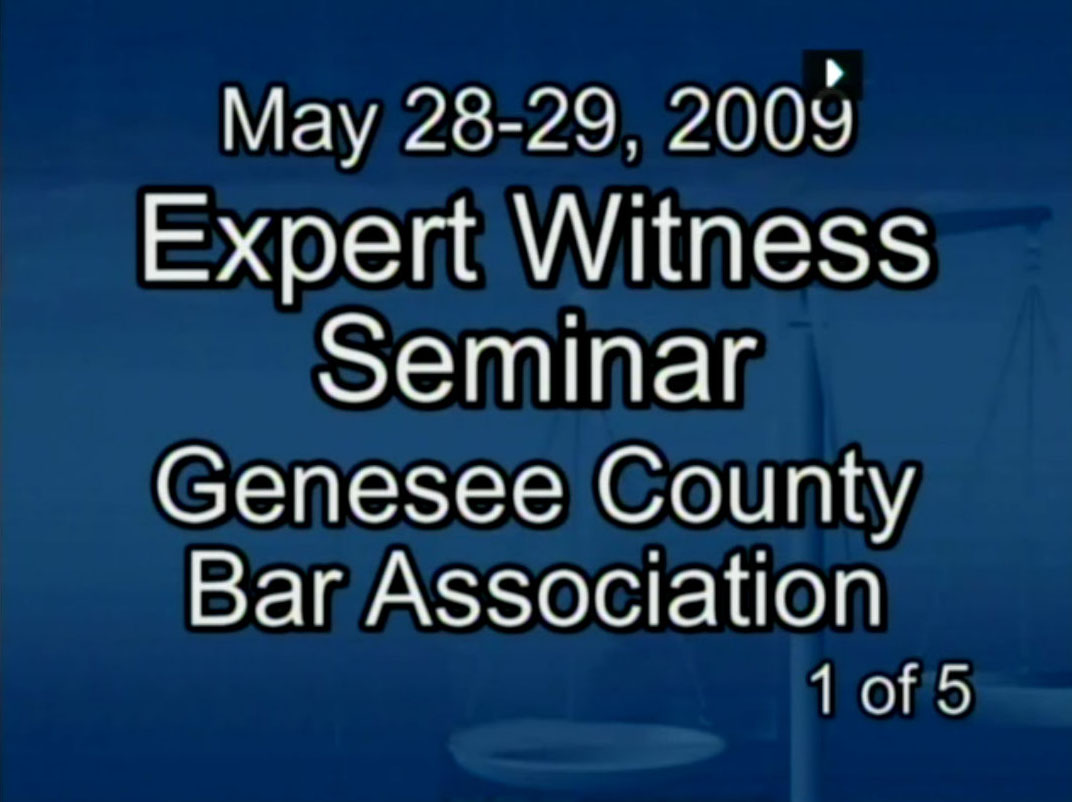 Expert Witness Seminar