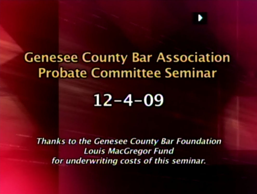 The Must Attend Probate Court Seminar of the Season